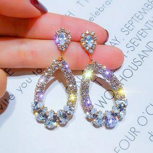 🎀Luxury Crystal Open Hoop Earings